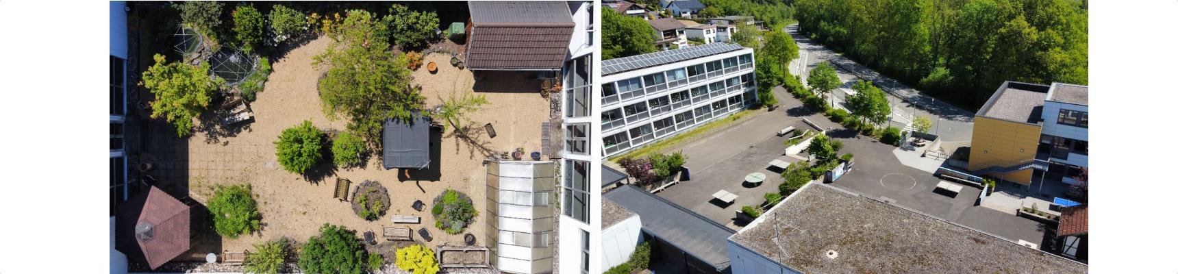 Drohnenflug übers Schulgelände